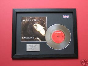 "MARIAH CAREY - Emotions 7"" platinum Disc with Cover"